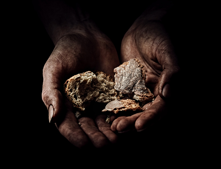 거지의 손. 빈곤 개념 스톡 콘텐츠