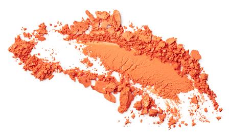Orange eye shadow isolated on white background