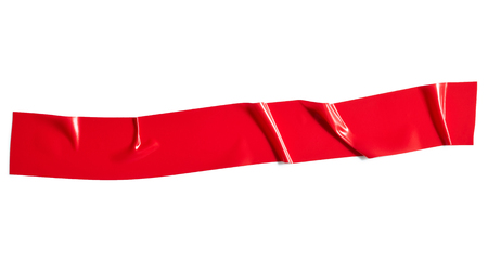Red adhesive tape isolated on white background Reklamní fotografie