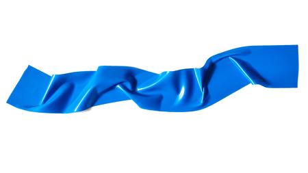 Modré scotch páska izolovaných na bílém pozadí
