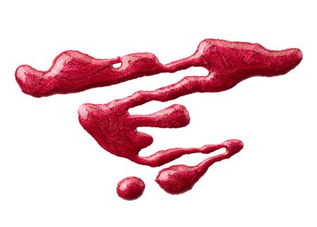 Blot of nail polish isolated on white background