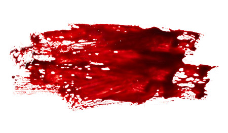 Bloodstain isolated on white background