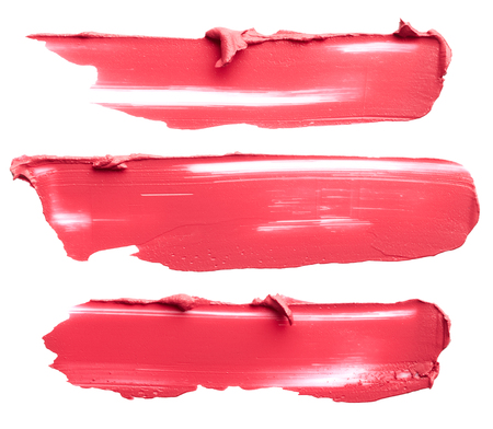 Set of lipstick strokes isolated on white background Reklamní fotografie