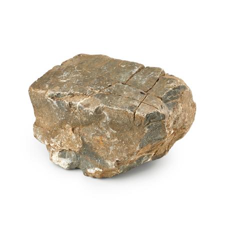 Big rock isolated on white background Stock Photo