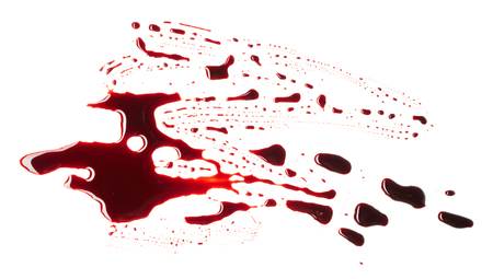 Blots of blood isolated on white background