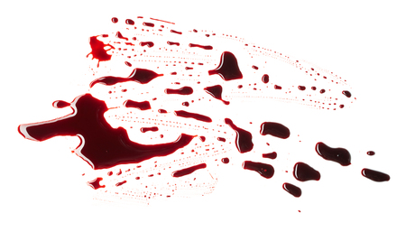 Blood isolated on white background Фото со стока