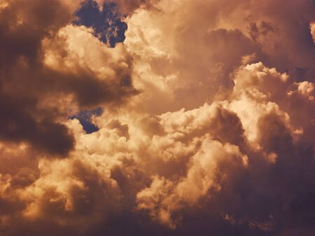 Dramatic stormy sky. Nature background