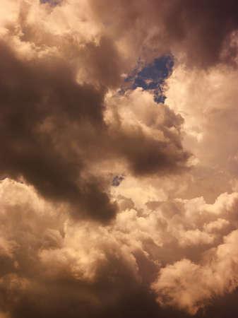 Dramatic dark cloudy sky before storm
