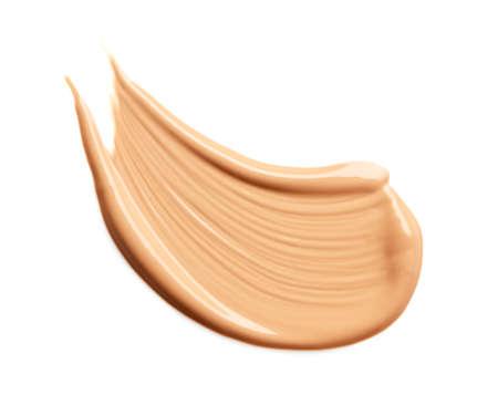 Makeup liquid foundation smear isolated on white background
