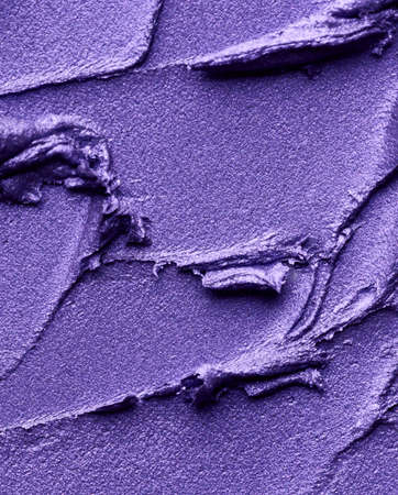 Purple cream eye shadow. Cosmetic abstract background