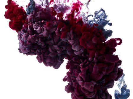 Abstract paint splash on white background Archivio Fotografico