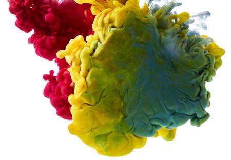 Color paint splash. Abstract background Banco de Imagens