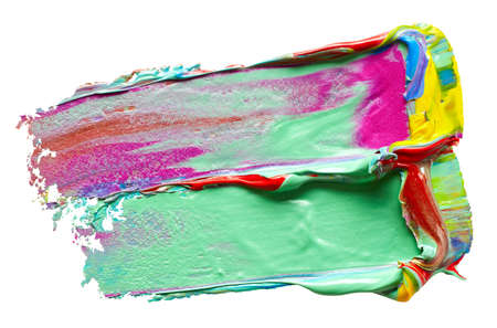 Mint colored paint strokes over white background