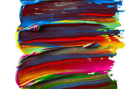Abstract paint strokes over isolated white background