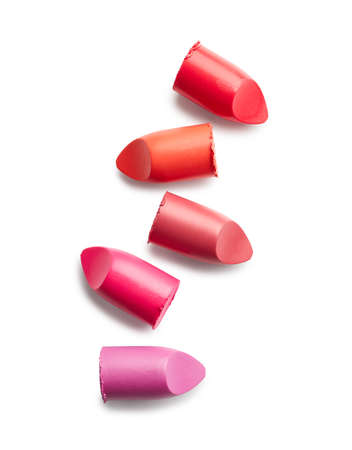 Lipsticks isolated on white background Banque d'images