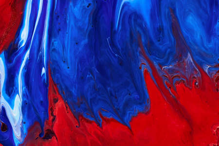 Red and blue paint texture marble background