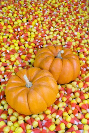candy corn: Pumkins In Candy Corn