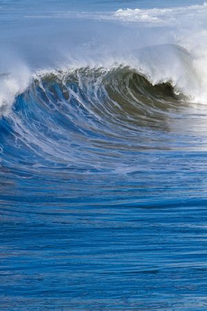 Pacific Ocean waves and surf.