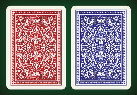 Diseño de la parte posterior - jugando a las cartas ilustración vectorial