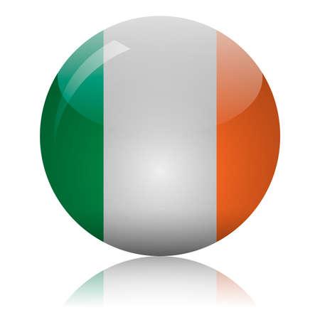 Irish flag glass icon vector illustration