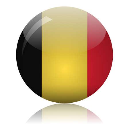 Belgian flag glass icon vector illustration