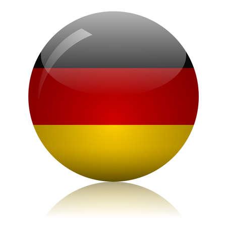 German flag glass icon vector illustration