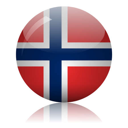 Norwegian flag glass icon vector illustration
