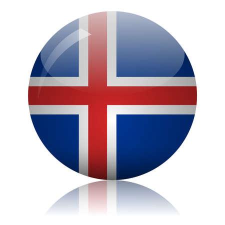 Icelandic flag glass icon vector illustration Vectores