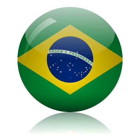 Brazilian flag glass icon vector illustration
