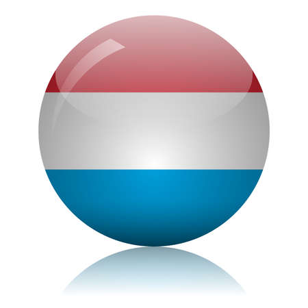 Luxembourg flag glass icon vector illustration