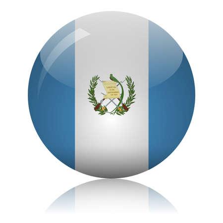 Guatemalan flag glass icon vector illustration