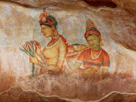 sigiriya: Frescoes at Sigiriya, Sri Lanka
