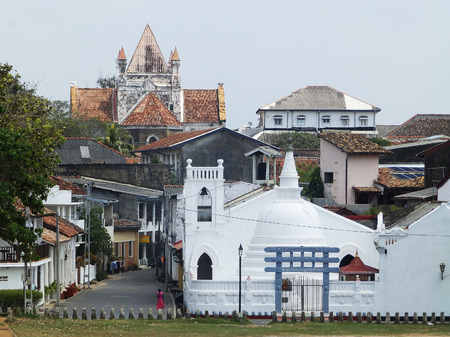 galle: View of the architecture of the Fort Galle, Sri Lanka Editorial