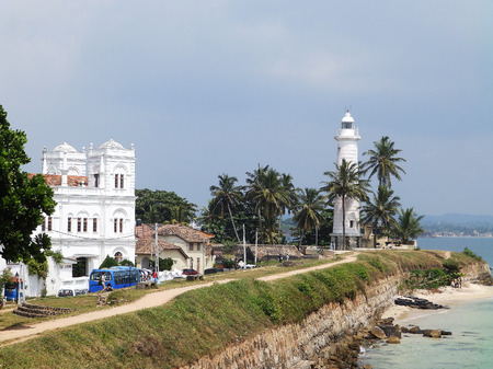 galle: View of the architecture of the Fort Galle, Sri Lanka Stock Photo