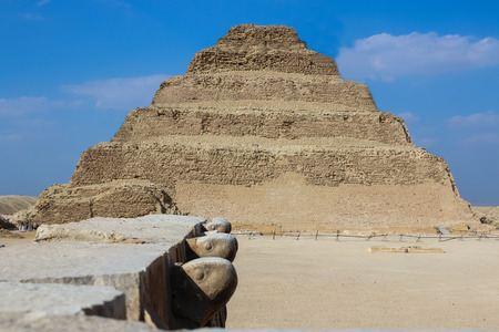 Step pyramid of Djoser. Desert Saqqara. Egypt. 스톡 콘텐츠