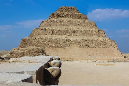 djoser: Step pyramid of Djoser. Desert Saqqara. Egypt. Stock Photo