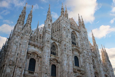 Milan cathedral dome in Italy photo