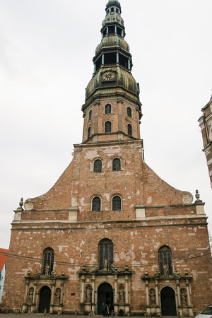 st  peter s square: View at old Saint Peters Church, Latvia.