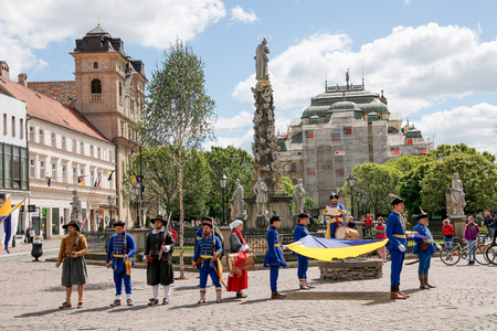 mosquetero: Kosice Slovakia - May 08 2016: The costumed feast. Editorial