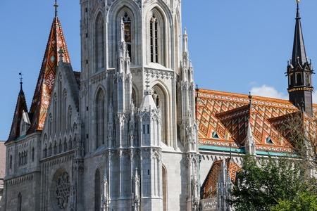 matthias: The Matthias Church, the Fishermens Bastion. Budapest, Hungary