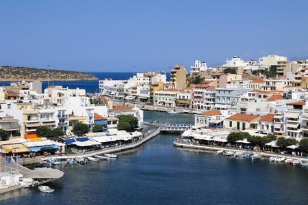 Crete. Greece. Agios Nikolaos Panorama Lake Voulismeni