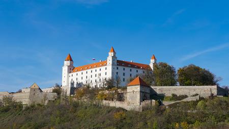 Stary Hrad - ancient castle in Bratislava. Bratislava is occupying both banks of the River Danube and River Morava