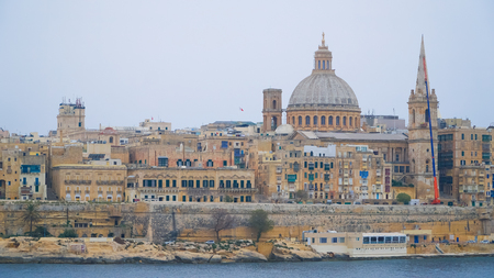 View of Valletta. Valletta - Italian word for Small valley is the capital city of Malta