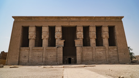 Dendera temple or Temple of Hathor. Egypt. Dendera, Denderah, is a small town in Egypt. Dendera Temple complex, one of the best-preserved temple sites from ancient Upper Egypt. Stock Photo - 118732931