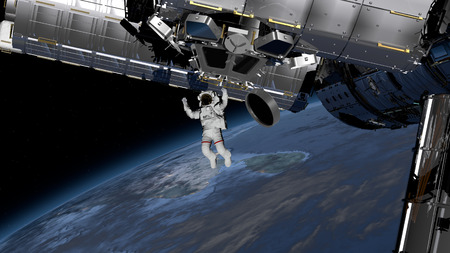 Astronaut Spacewalk, Astronaut in the open space.