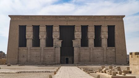 Dendera temple or Temple of Hathor. Egypt. Dendera , also spelled Denderah.