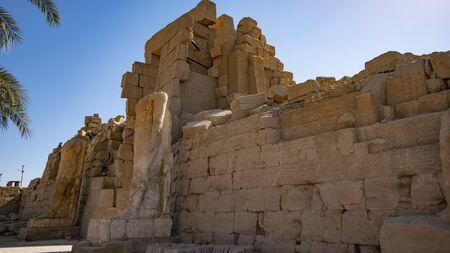 Karnak Temple in Luxor, Egypt. The Karnak Temple Complex, commonly known as Karnak, from Arabic Khurnak.