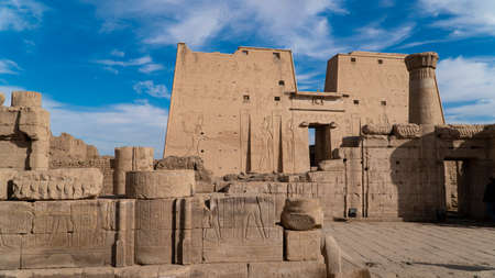Edfu also spelt Idfu, and known in antiquity as Behdet is an Egyptian city, located on the west bank of the Nile River between Esna and Aswan.