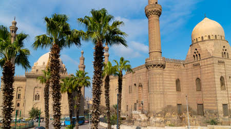 View of the old part of Cairo. Mosque-Madrassa of Sultan Hassan. Cairo. Egypt