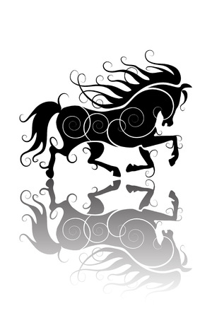 bridle: stylized horse silhouette